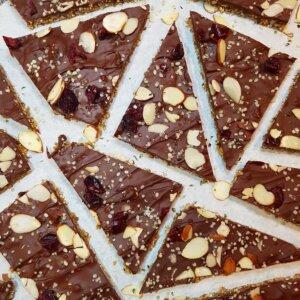 dark chocolate seed bark