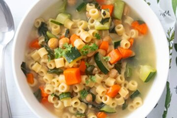 ditali chickpea and vegetable soup