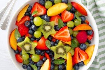 summer fruit salad with citrus honey dressing