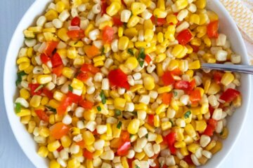 easy corn and red pepper salad