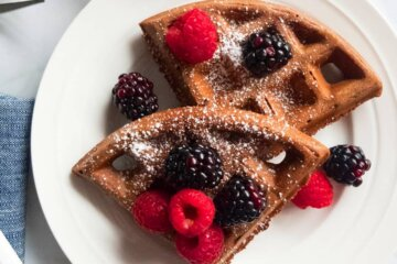 healthy dark chocolate waffles