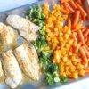 sheet pan haddock fish dinner
