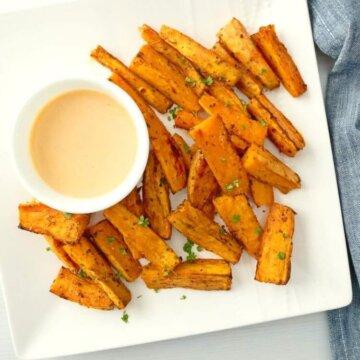 baked sweet potato wedges