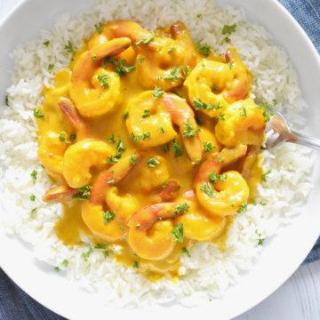 turmeric shrimp