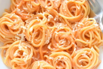 healthy roasted red pepper alfredo