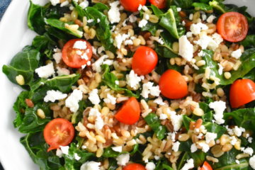 swiss chard salad with ancient grains
