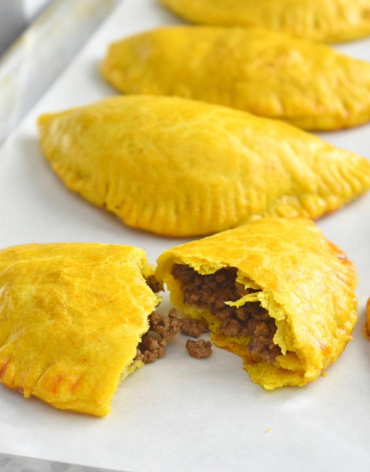 Jamaican Beef Patties Herbs Flour