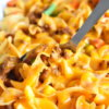 cheesy beef and noodle casserole family meal