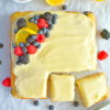 triple berry cake with lemon cream cheese frosting