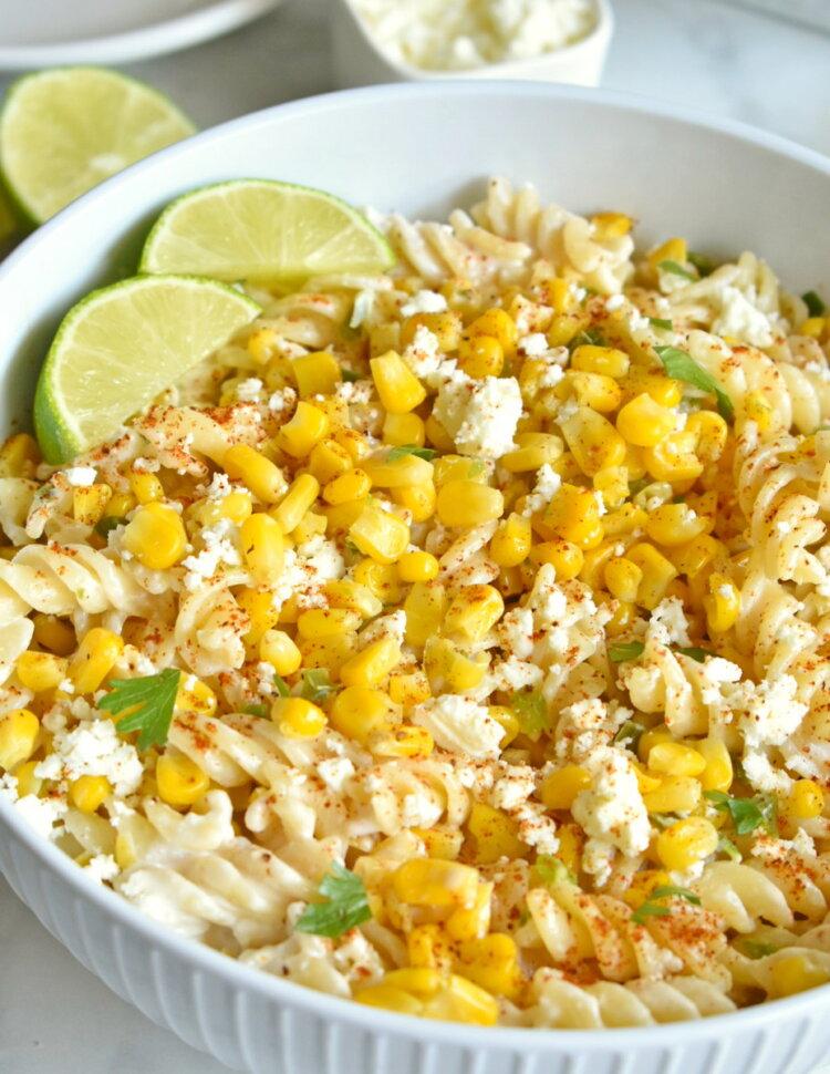 mexican street corn pasta salad