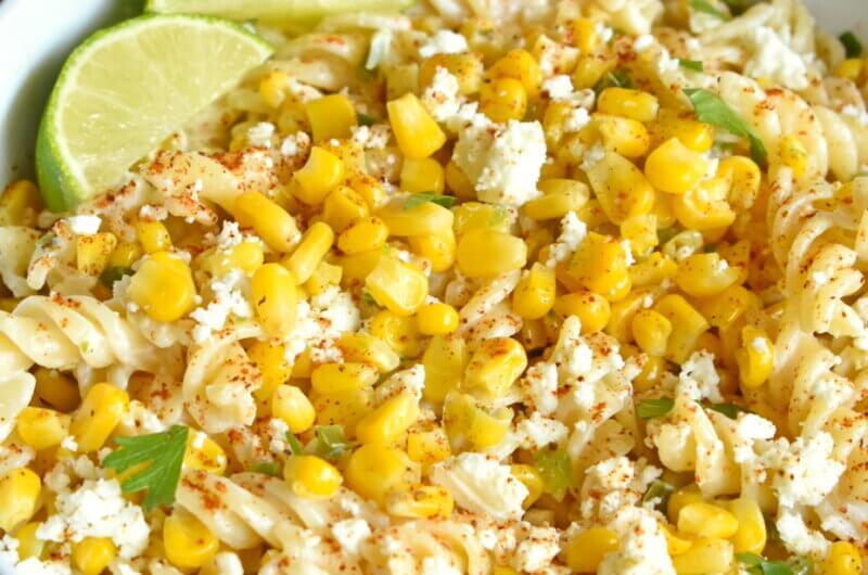 Healthy Mexican Street Corn Pasta Salad