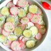 radish cucumber salad with creamy dill dressing