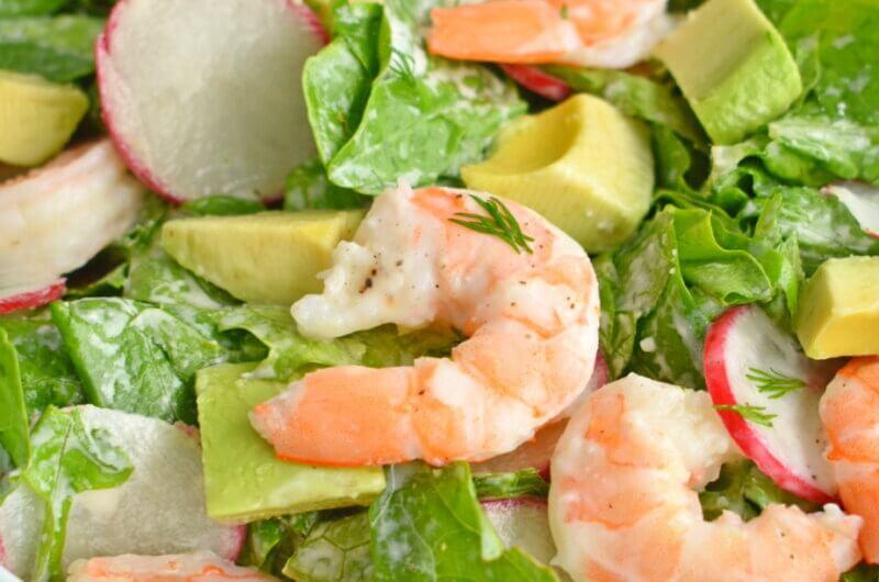 Shrimp and Avocado Salad with Creamy Dill Dressing