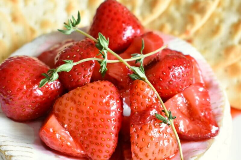 Baked Brie with Balsamic Roasted Strawberries