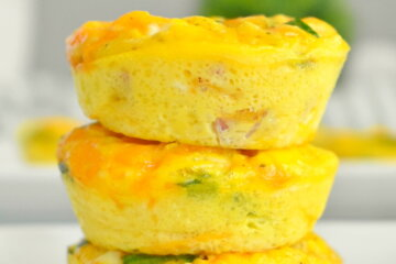 ham cheese and spinach egg cups