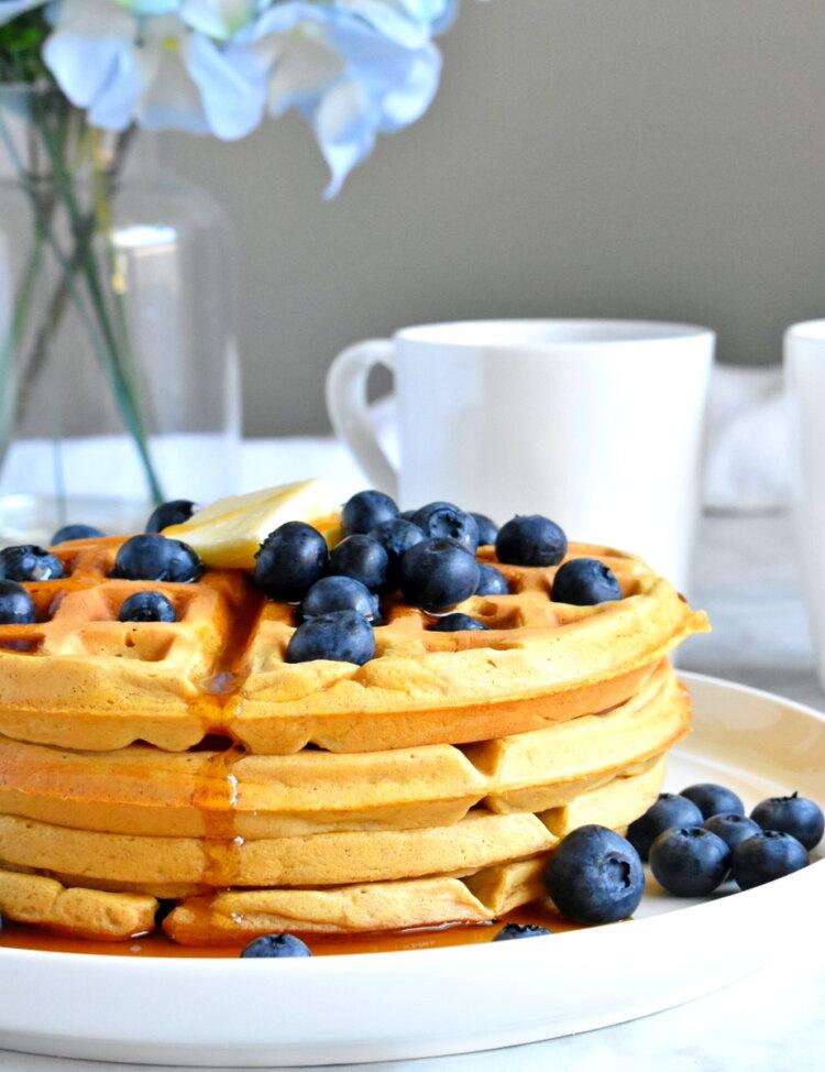 healthy sweet potato waffles