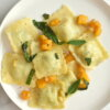 butternut squash ravioli with brown butter sage sauce