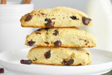 cranberry dark chocolate scones recipe