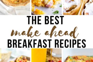 make ahead breakfast recipes
