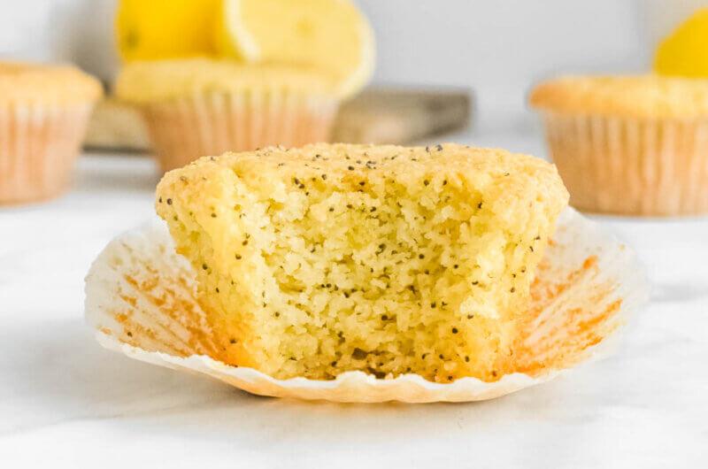 Almond Flour Lemon Poppy Seed Muffins