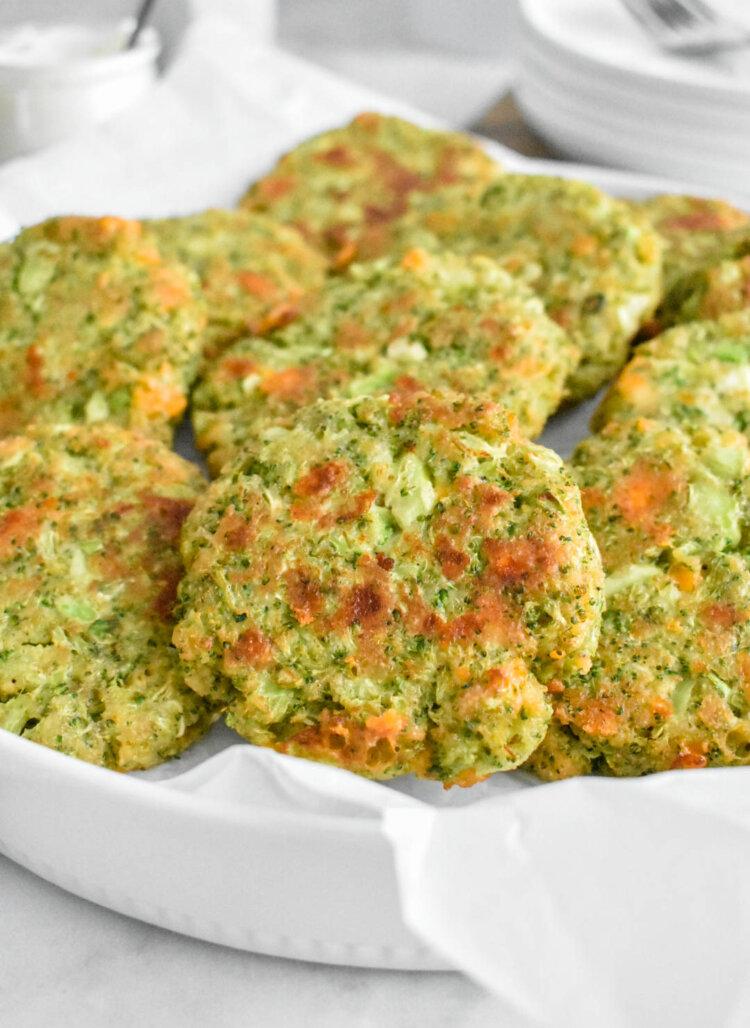 cheesy broccoli fritters recipe