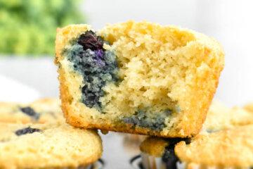 Gluten-Free Keto Blueberry Muffins