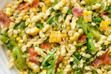 Corn, Bacon and Arugula Pasta Salad