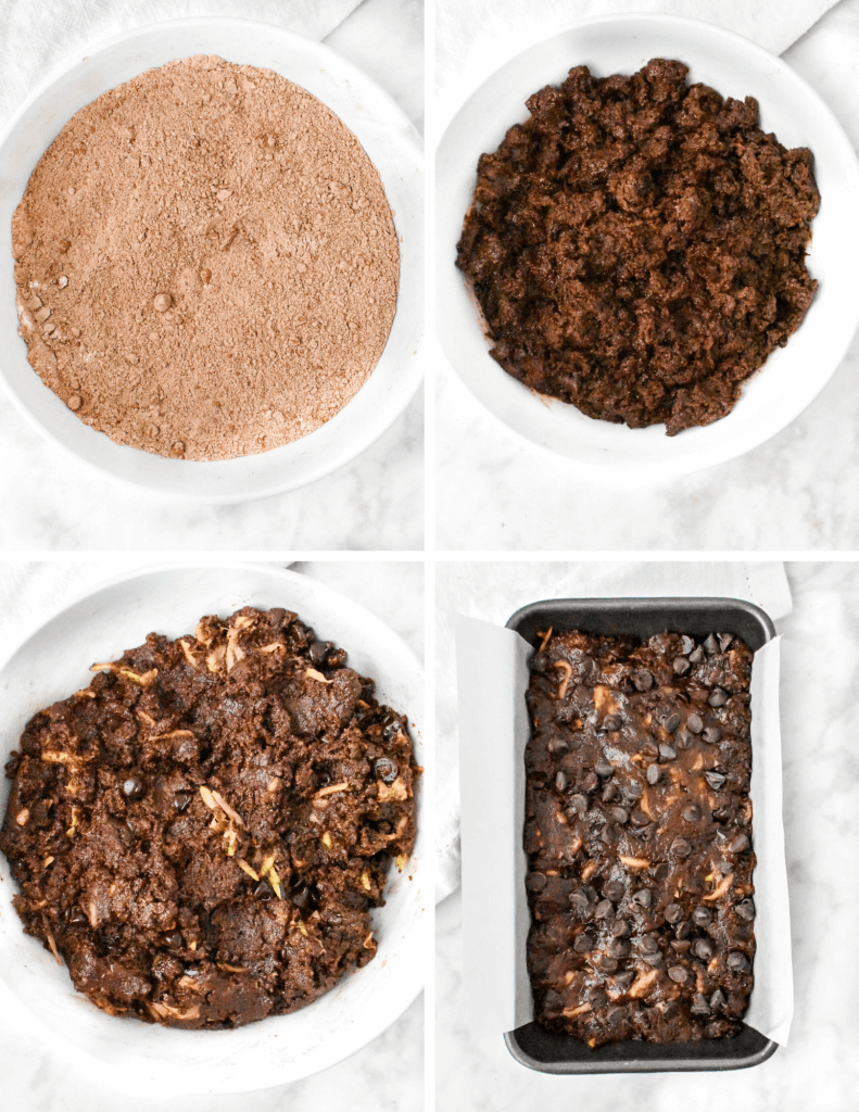 steps for making chocolate zucchini bread