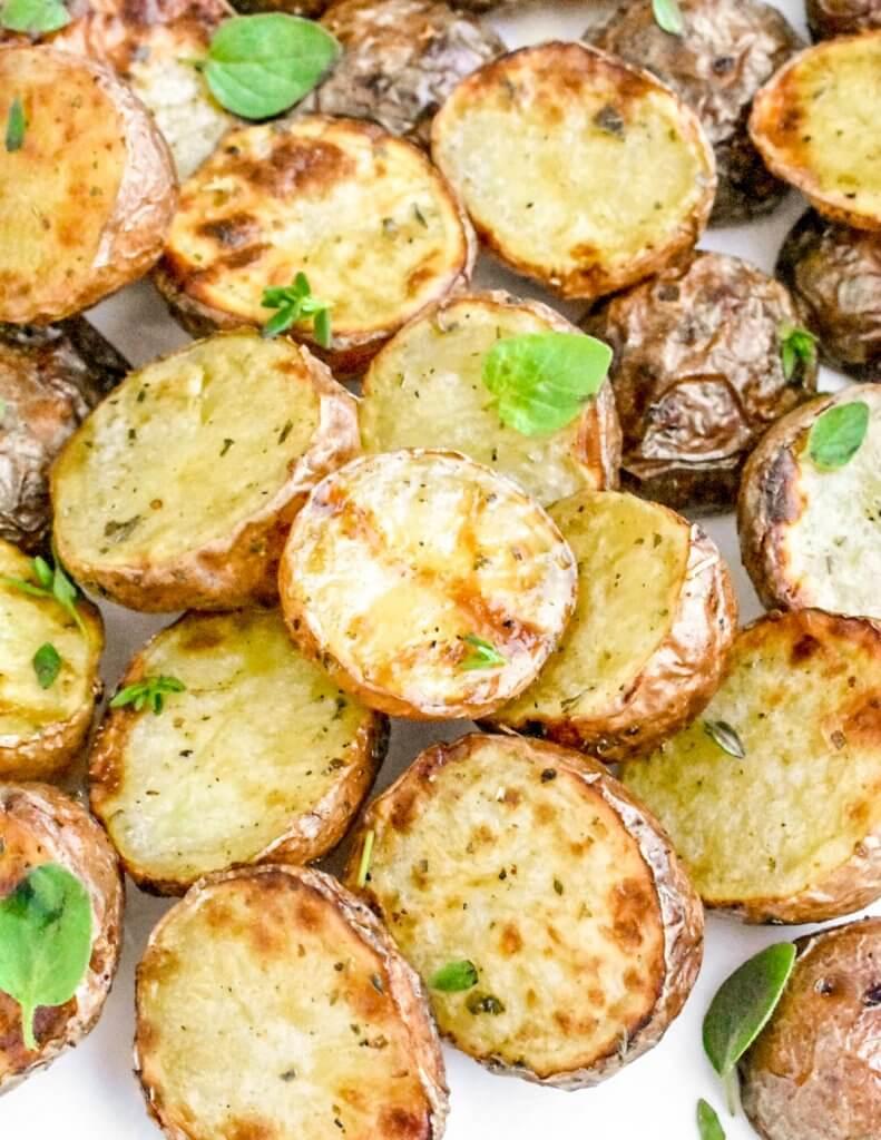 air fryer potatoes with fresh herbs