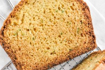 slice of zucchini bread