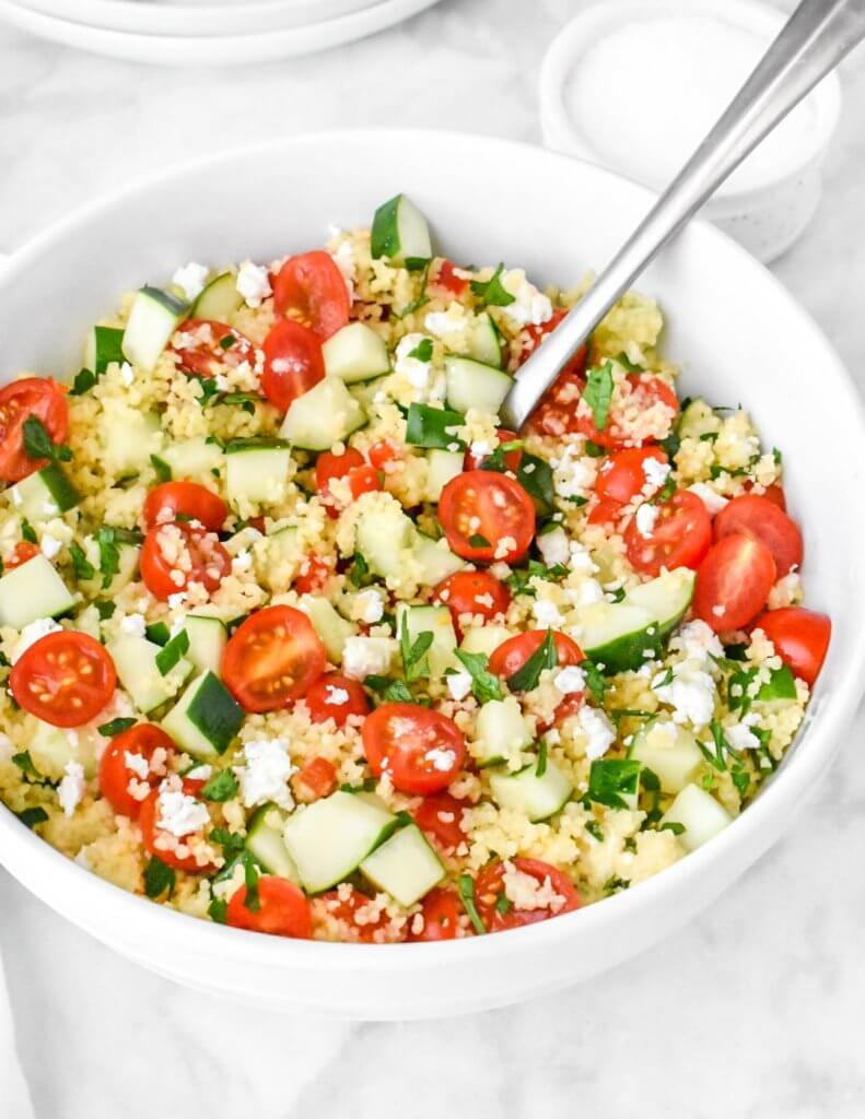 bowl of Mediterranean Couscous Salad