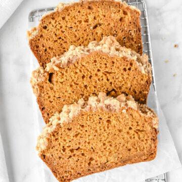 slices of Pumpkin Streusel Bread