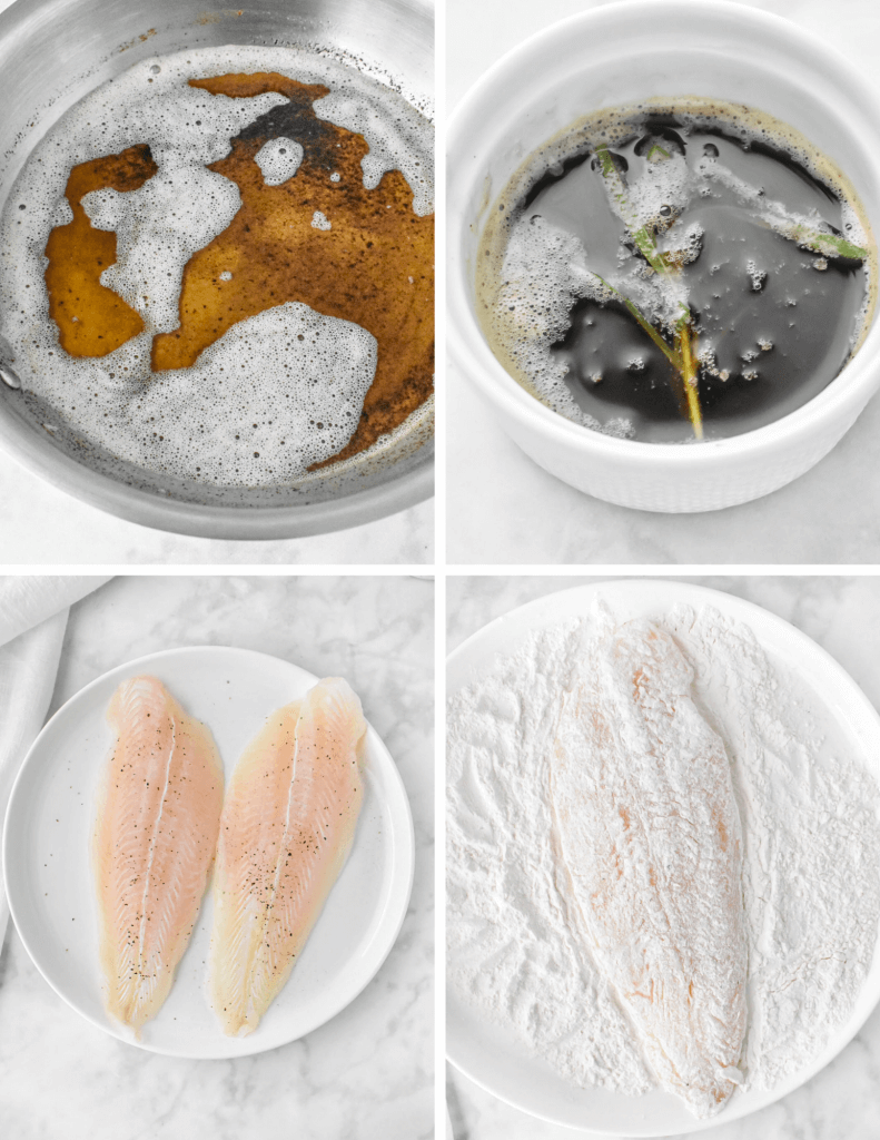 steps for making basa fish fillets with lemon brown butter sauce