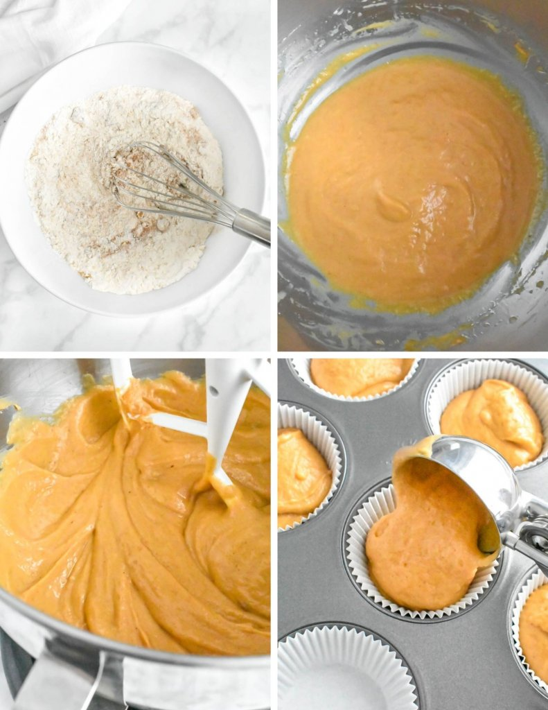 Steps for Making Pumpkin Cupcakes